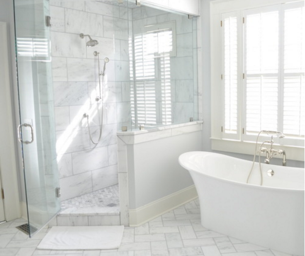 Looking For A White Really Fresh White Marble Tile Carrara Venato Is The Best Choice Starting At Jus White Marble Bathrooms Bathrooms Remodel Shower Remodel
