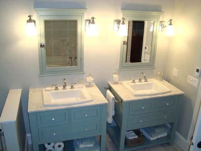 2 Separate Sinks In Bathroom Image Result For 2 Separate Vanities In Bathroom 2 Sepa In 2020 Custom Bathroom Vanity Traditional Bathroom Vanity Small Bathroom Vanities