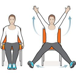 8 Exercise Moves You Can Do In Your Chair Workout Moves Chair Exercises Senior Fitness