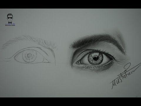 تعلم رسم العيون تخطيط وتظليل العين بشكل بطيء How To Draw Eyes Youtube Eye Drawing Pencil Portrait Portrait Drawing
