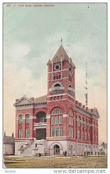 Old City Hall Oregon Salem Delcampe Net Ashland Oregon