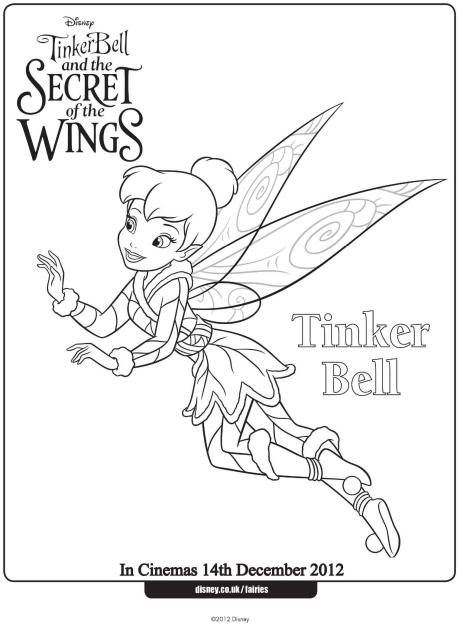 Tinkerbell Colouring Page Colour In This Pretty Picture Of
