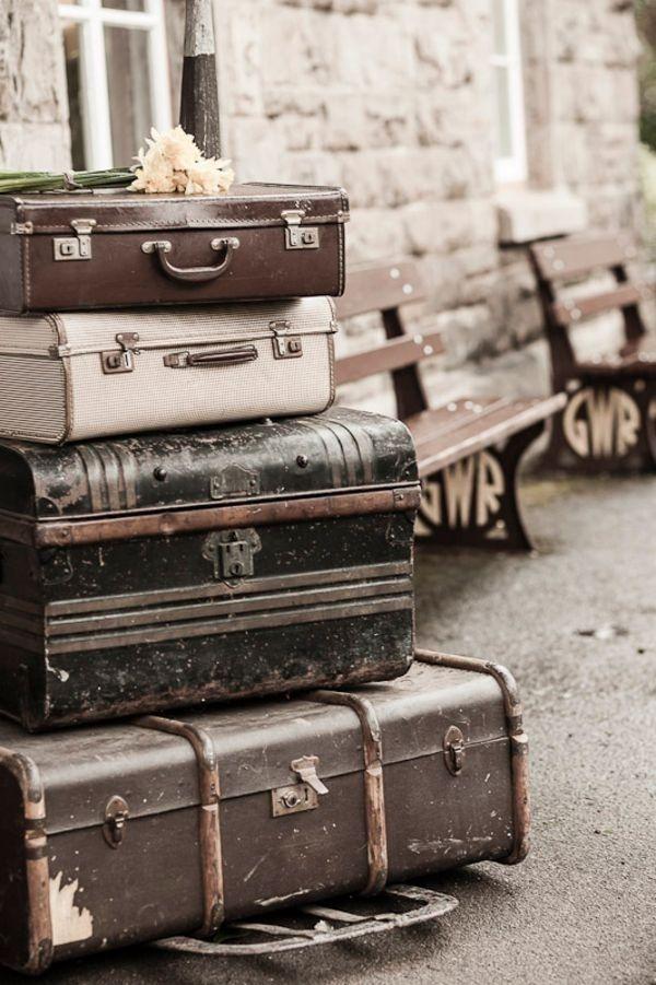 wijnoogst koffer