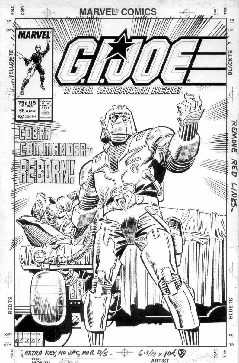 ZECK, MIKE - GI Joe #58 cover, Cobra Commander reborn! Comic Art ...