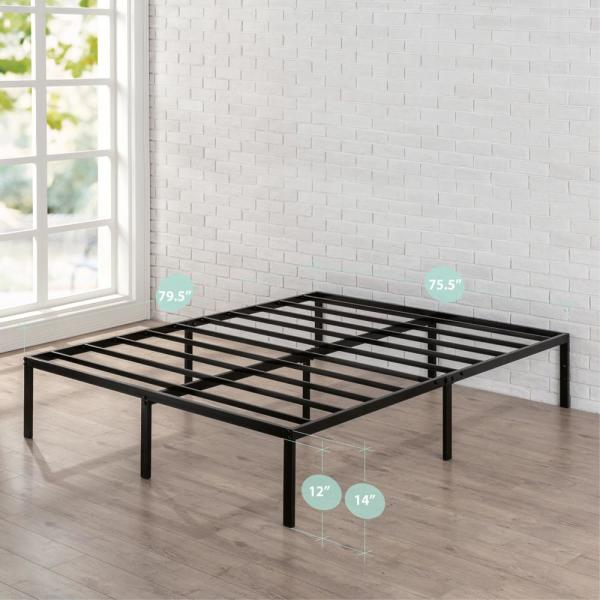 Zinus Yelena 14 in. Classic Metal Platform Bed Frame with