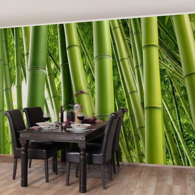 Fototapete Bambuswand  Vliestapete Tapete