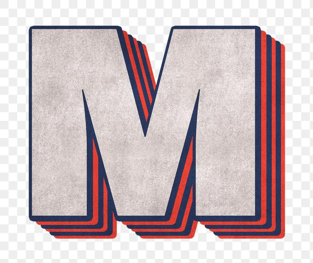 Letter M Png Layered Effect Alphabet Text Free Image By Rawpixel Com Cuz Alphabet Png Lettering