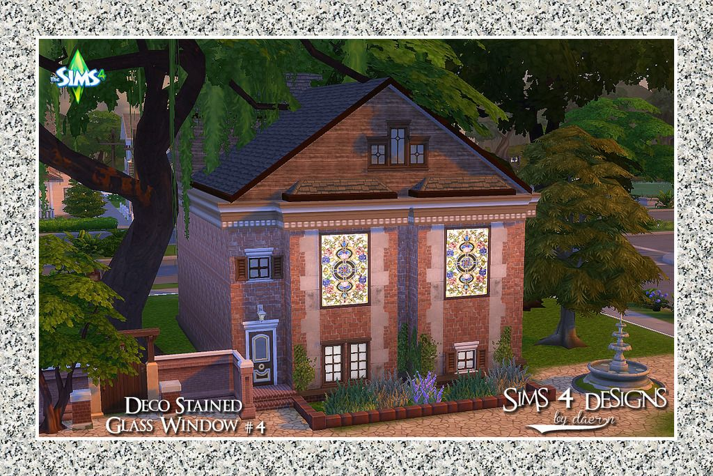 Sims 4 Designs: Deco Stained Glass Window #4 | Sims 4