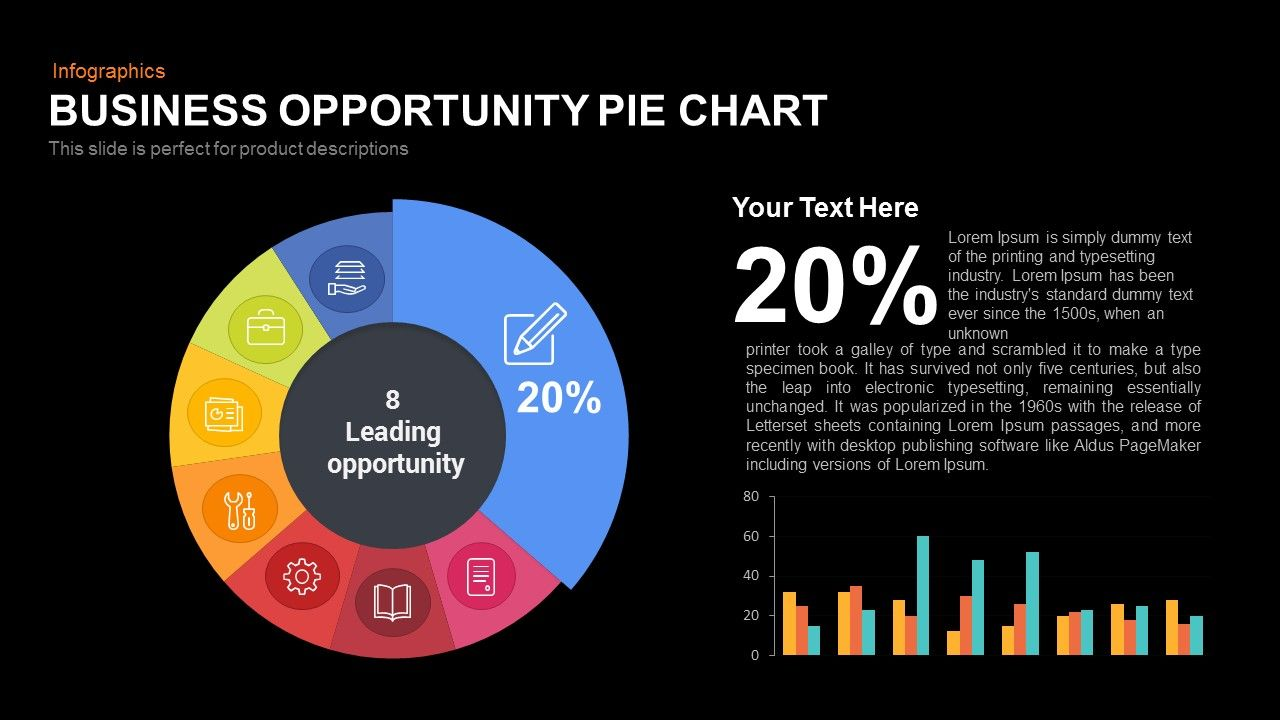 Business opportunity pie chart pie chart peise pinterest pie business opportunity pie chart is simple pie chart design that is focused on a particular section of the pie which is enlarged and the percentage written on nvjuhfo Image collections