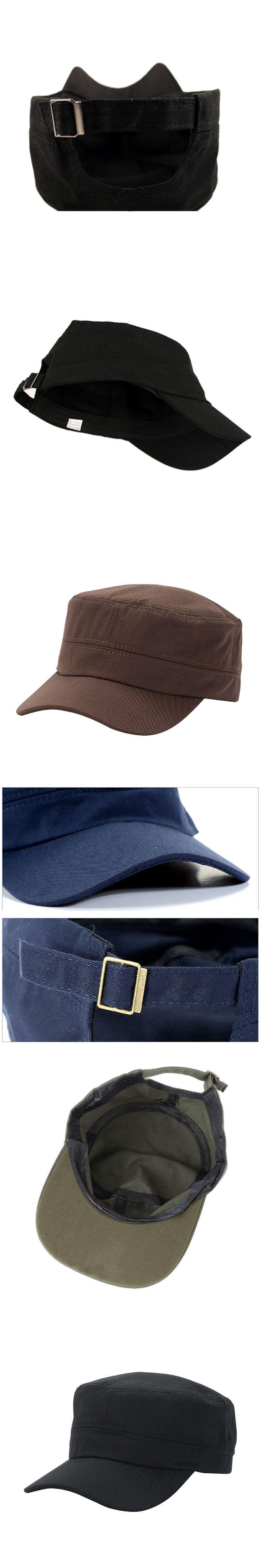 55a4b7d4704c60 New Hot Adjustable Army Cadet Style Hat Cotton Cap Men Women Baseball Caps