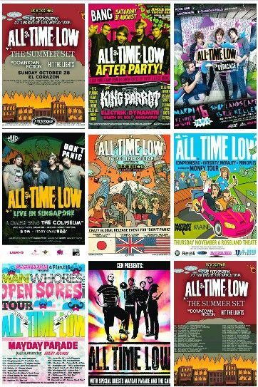 concert posters all about time all