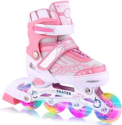 Roller Blades for Kids and Youth Size Adjustable Light Up Roller Skates Safe and Fun Illuminating for Kids Roller Skates Adjustable for Kids
