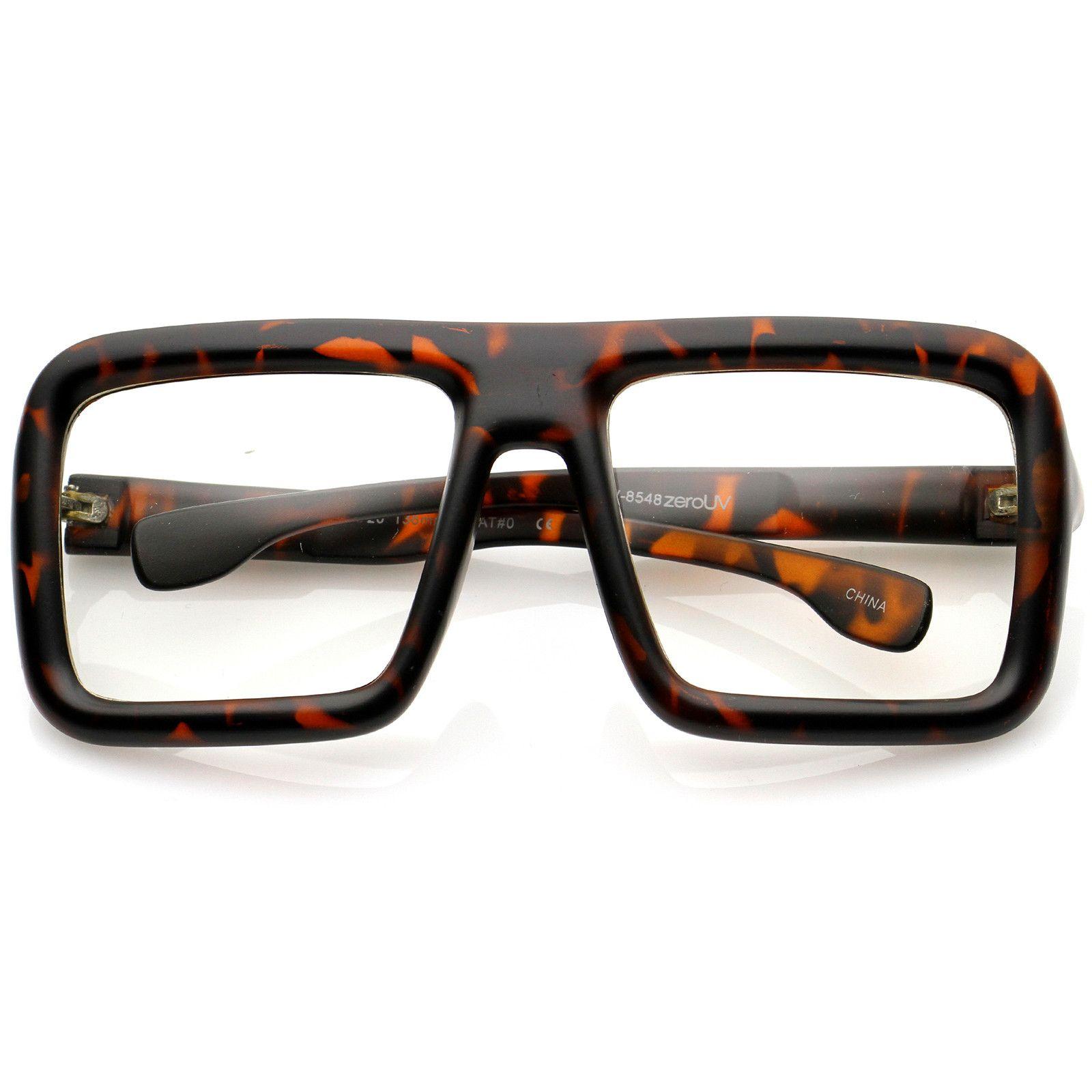 Oversize Bold Thick Frame Clear Lens Square Eyeglasses 58mm | Lentes ...