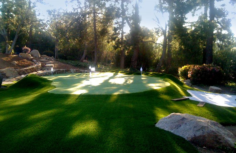 In Between Weekends At The Club, Practice Your Putt On Your Own Backyard  Green.
