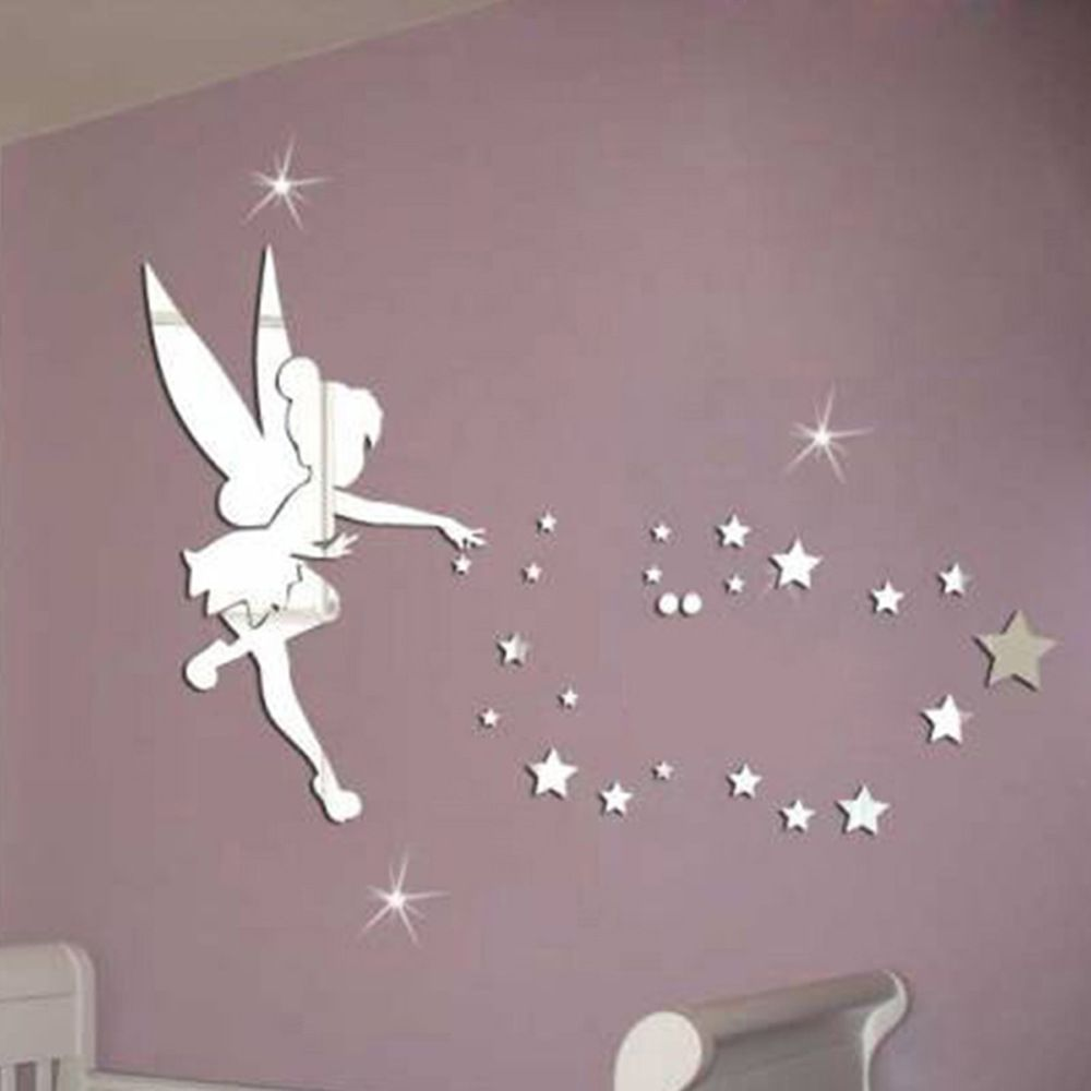 Material Acrylic Mirror Applying Size About 40 70cm 100 Brand New And High Quality This Is Diy Item Kids Wall Decals Mirror Wall Stickers Star Wall Decals