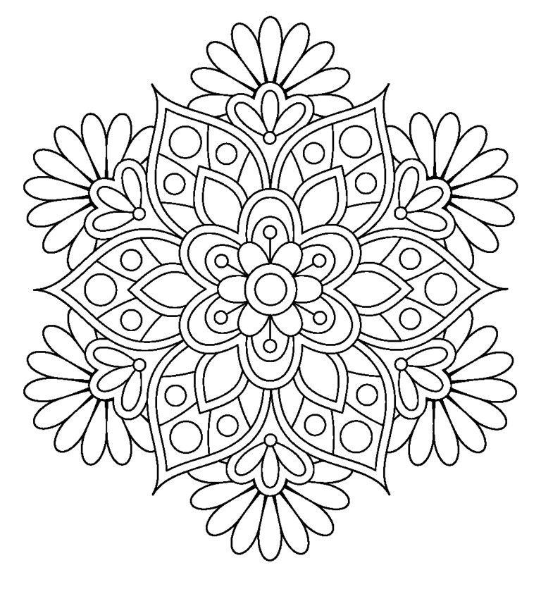 Mandala. Coloring pages for grown ups … | Pinteres…