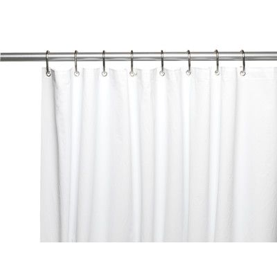 Ben And Jonah Clean Home PEVA Shower Curtain Liner Color White