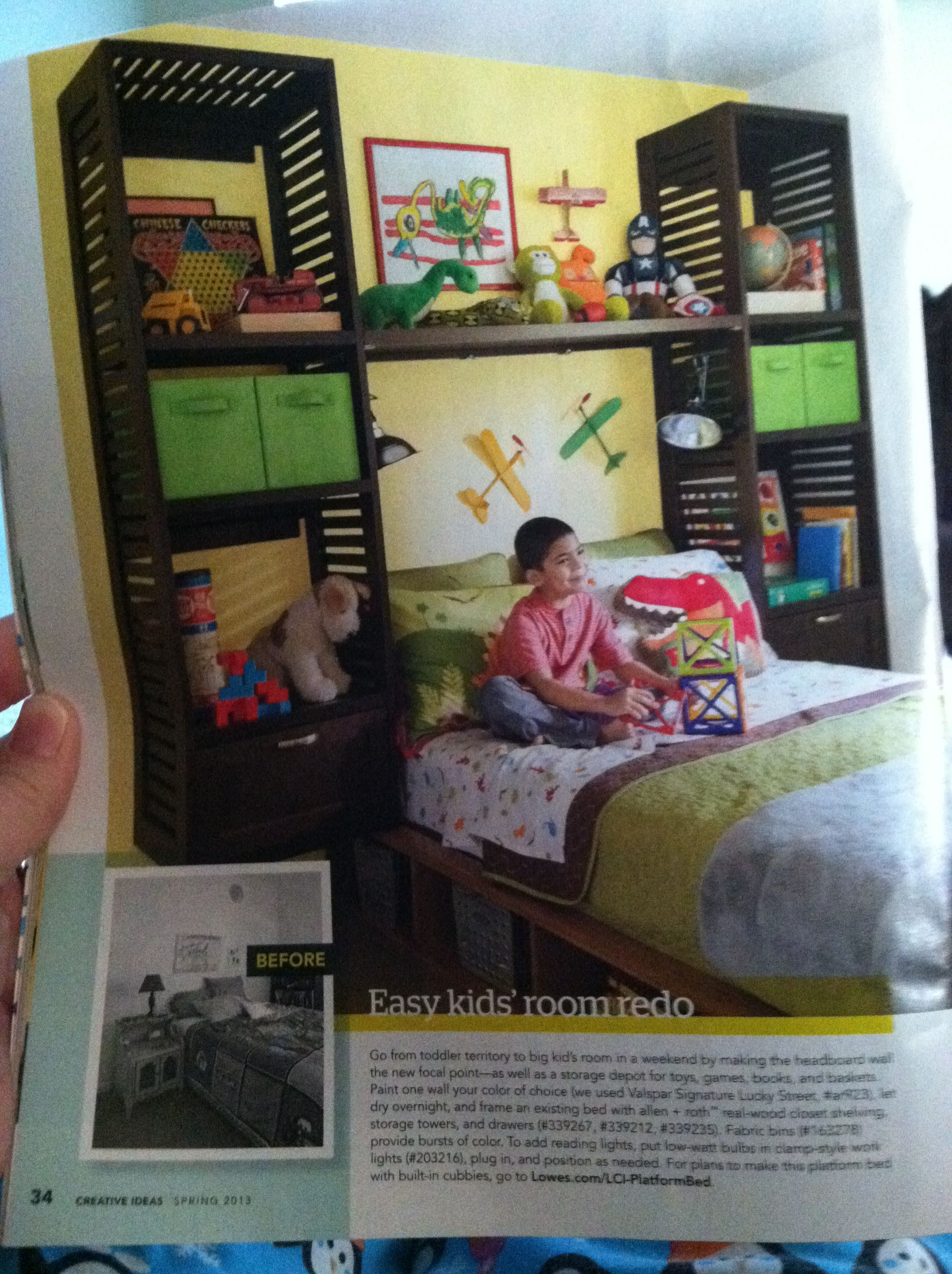 Lowes Creative Ideas Kids Room Spring 2013. Allen + Roth Real Wood Closet  Shelving Storage
