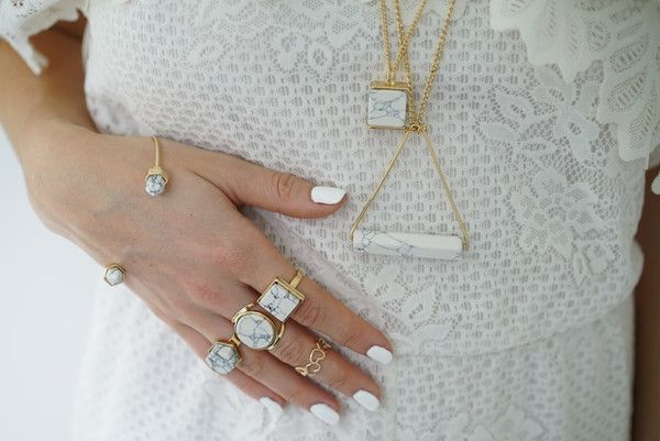 Marble Rings and Necklaces