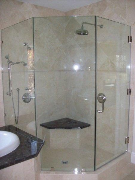 Frameless Corner Shower Stalls Design Decorating 714672 Bathroom ...