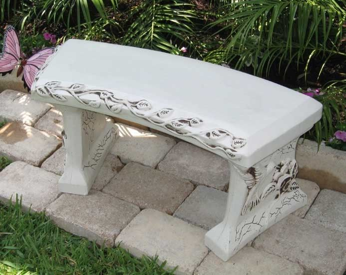 Personalized Concrete Garden Bench Concrete Garden Bench Concrete Garden Memorial Benches