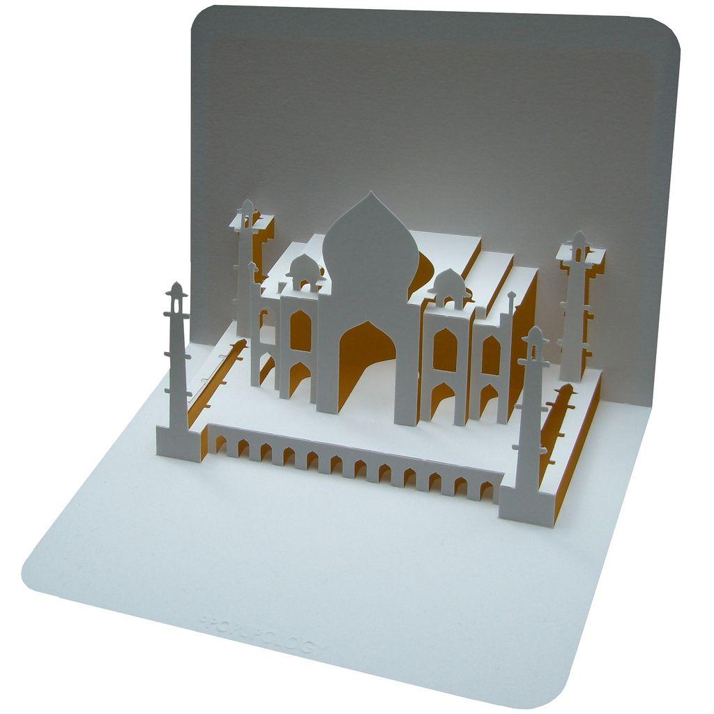 Taj Mahal Kirigami Tutorial Paper Sculpture Pop Up Cards