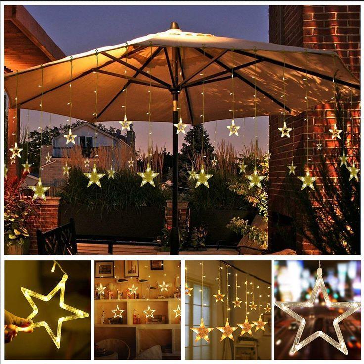 led lichterkette lichterketten aussen fensterdeko weihnachtsdeko party deko lichterketten netz