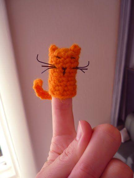 Fingerpuppe Kätzchen Fingerpuppen Pinterest Häkeln Häkeln