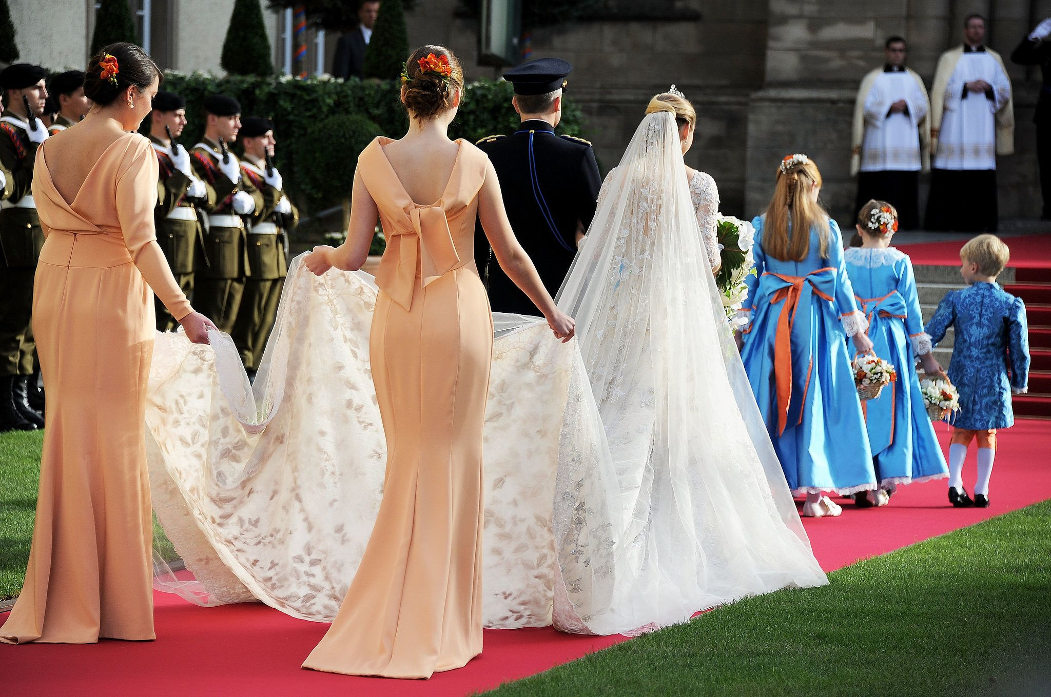 The Most Stunning Royal Weddings From Around The World Royal Wedding Dress Royal Weddings Bride [ 1359 x 2048 Pixel ]