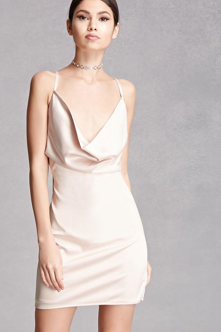 Cowl Neck Satin Dress Pretty Dresses Fancy Dresses Dresses