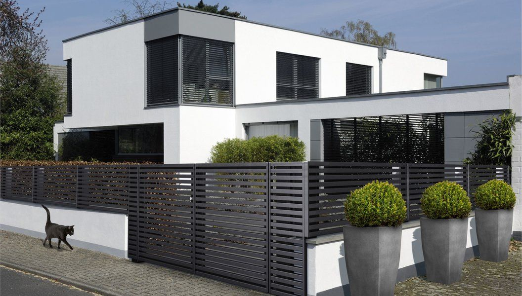 Modell Linea Zweiflugeltor Anthrazit House Styles Architecture Outdoor Decor