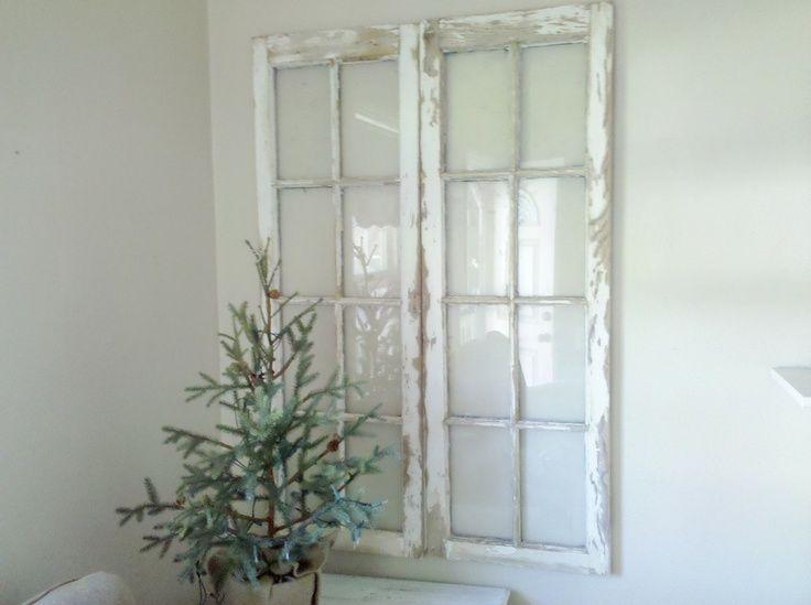 Shabby+Chic+Window+Frame | Vintage Shabby Chic Rustic 8 pane ...