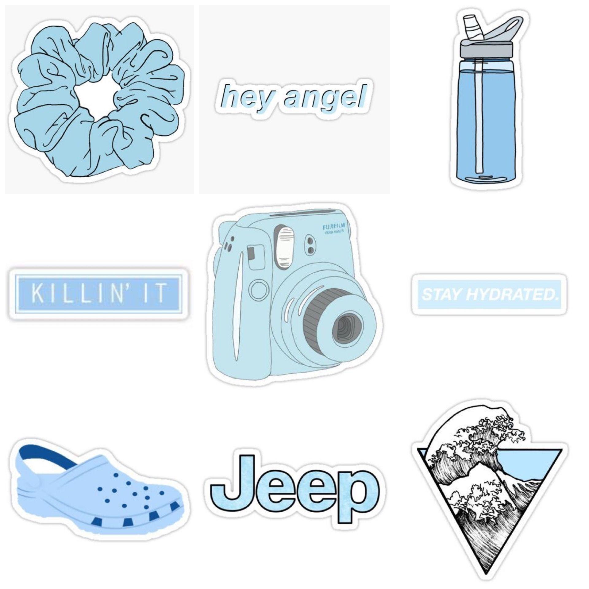 Popular Blue Aesthetic Tumblr Sticker Image - Desain ...