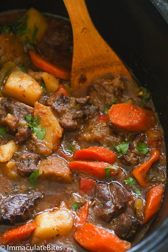 Slow Cooker Jamaican Beef Stew Recipe Jamaican Dishes Food