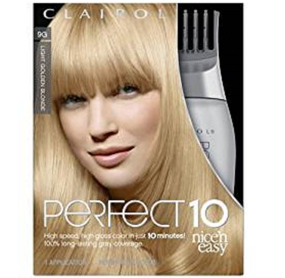 Clairol Perfect 10 Hair Color 9g Light Golden Blonde Rare Htf Free