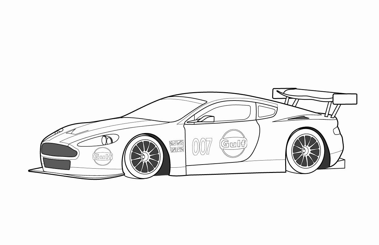 sport auto coloring in 2020 | cars coloring pages, race
