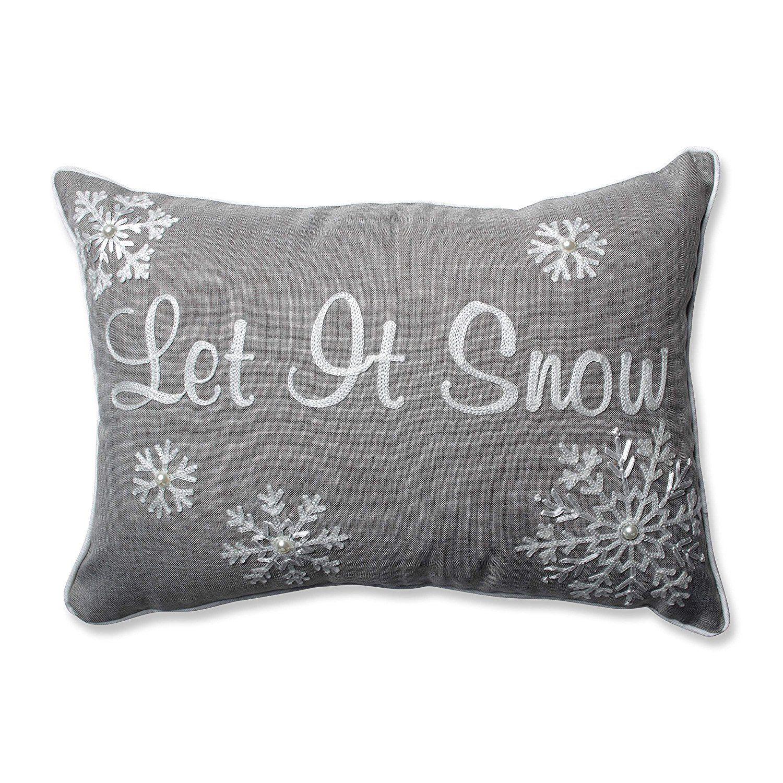 Have Amazon Com Pillow Perfect Let It Snow Rectangular Throw