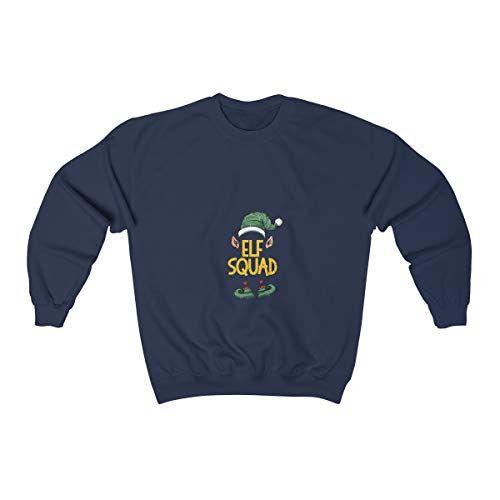 PrintYmotion ELF Crewneck Sweatshirt - Elf Squad Christmas Sweatshirt, Unisex Christmas Tee