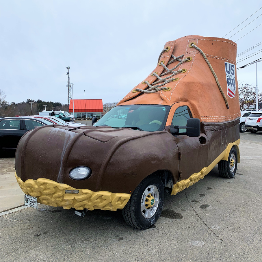 The Legendary L L Bean Bootmobile Stopped By For A Tune Up Today