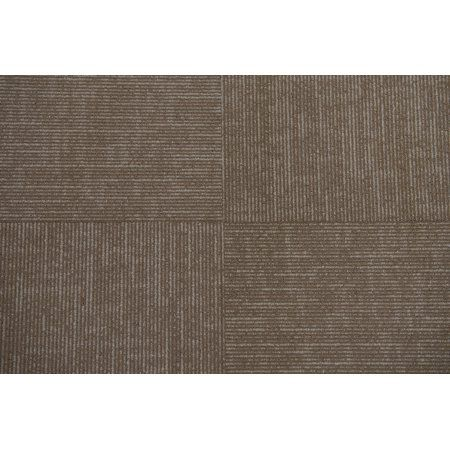 Watson Collection Carpet Tile In Tan 24 Inch X 24 Inch 72sqft