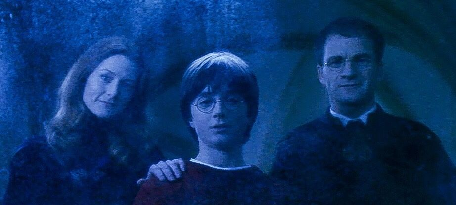 Harry Potter And The Sorcerer S Stone Harry And His Parents Lily And James In The Mirror Of Eris Harry Potter Parents Harry Potter Stories Harry Potters Dad