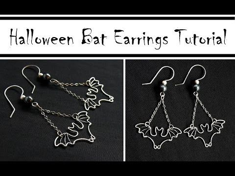 Wire Wrapped Bat Earrings For Halloween Wire Jewelry Tutorials