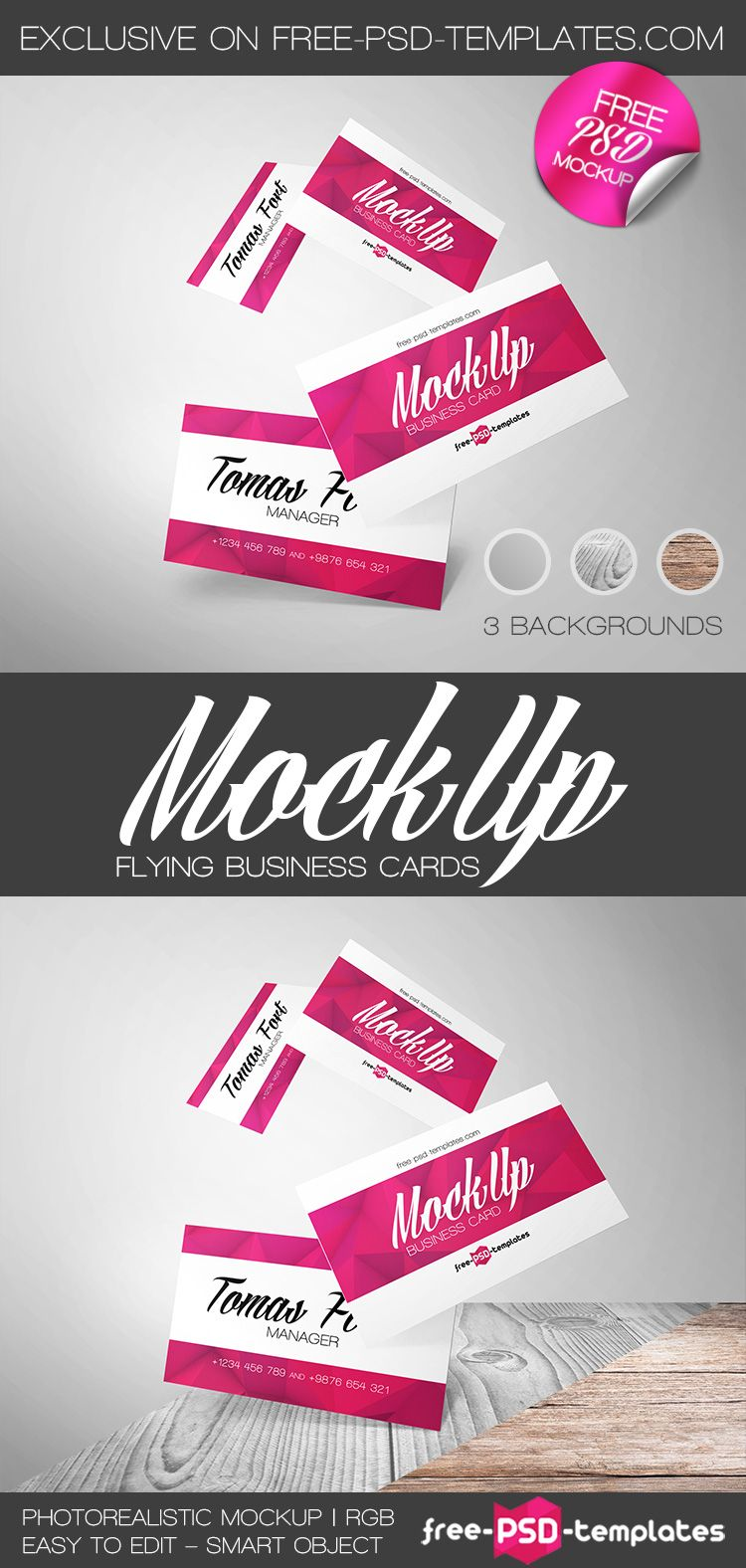 Download Flying Business Card Psd Mockup Responsive Joomla And Wordpress Themes Free Business Card Mockup Business Card Mock Up Business Card Psd PSD Mockup Templates