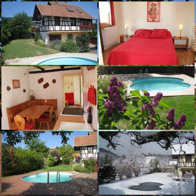 Location du0027un Gîte avec piscine extérieure non couverte à Kintzheim - Gites De France Avec Piscine Interieure