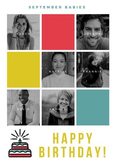 grayscale grid birthday poster posters pinterest poster