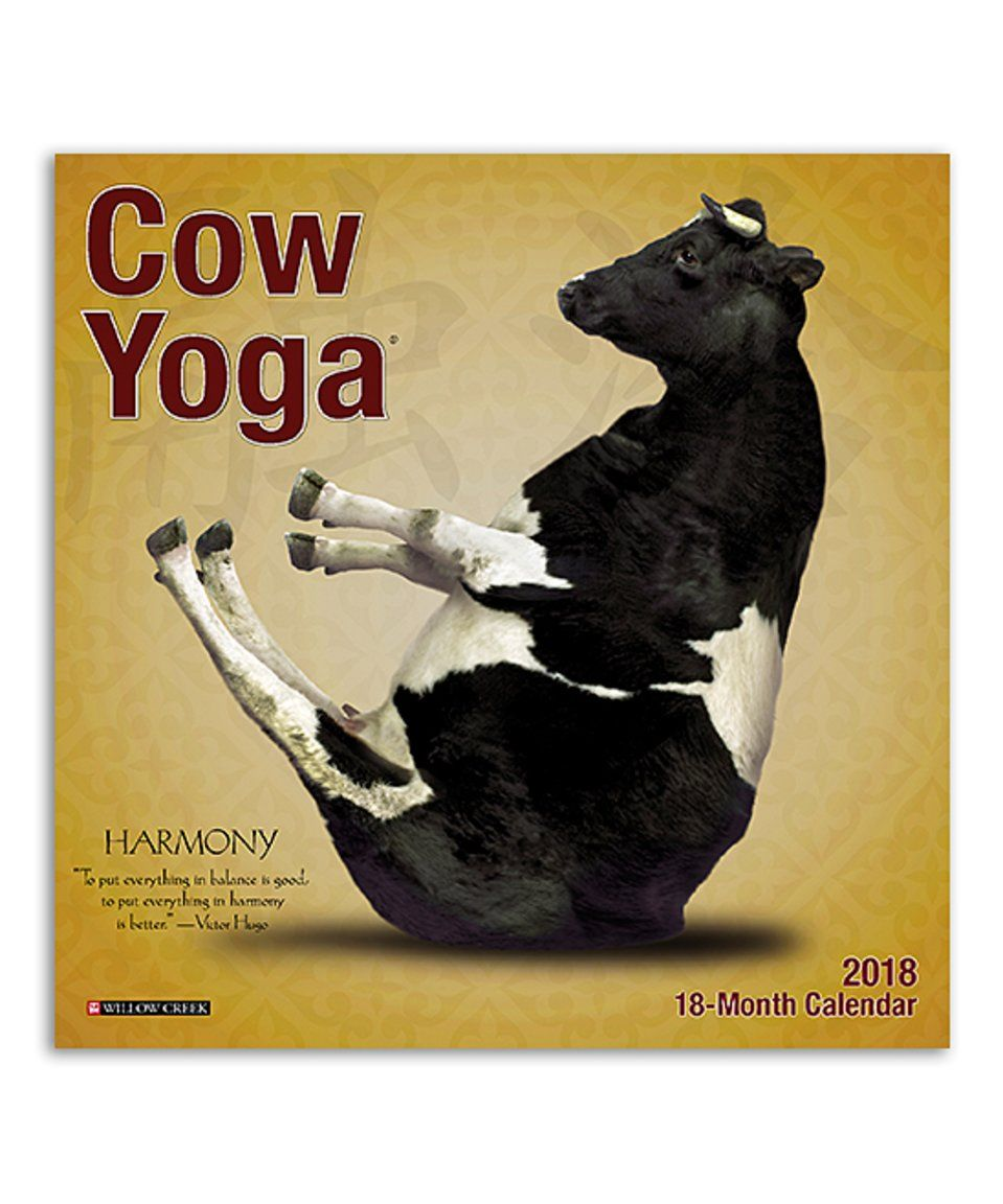 Take A Look At This Cow Yoga 2018 Mini Wall Calendar Today 2017 Wall Calendar Cow Wall Calendar