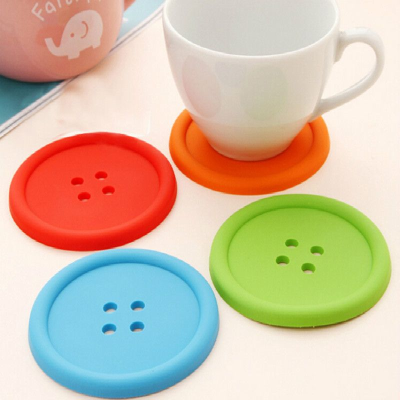 Non-Slip silicone Mat Coaster Cup Pad napperon rond Isolation Table Decor