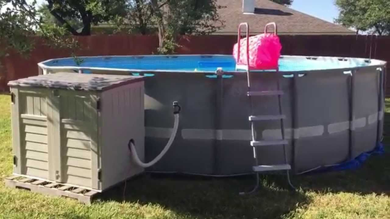 Intex Pool Ultra Frame 20 X 52 With Sand Filter And Salt Water System Intex Pool Saltwater Pool Pool Plumbing