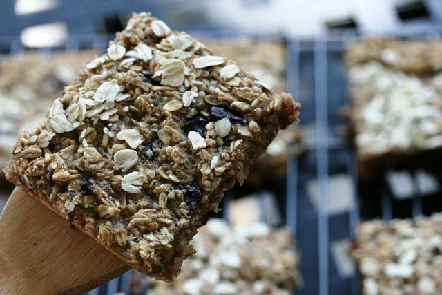 Oatmeal Dark Chocolate Granola Bars Recipe   - Food -  -