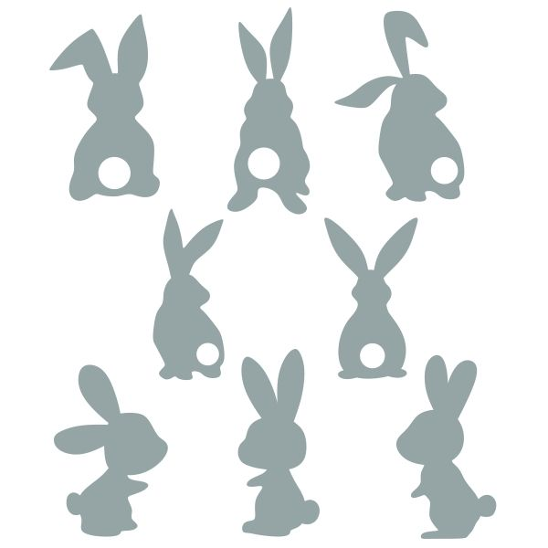 Easter Bunny Silhouette Svg Cuttable Designs Bunny Silhouette Easter Signs Bunny Images